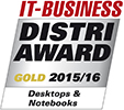 IT-Business Distri-Award 2015/2016 Gold Desktops und Notebooks